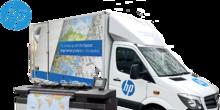 HP Designjet XL 3600 mobile demo trcuk