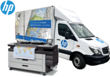 HP Designjet XL 3600 mobile demo truck - HP Mobile Showroom returns to the UK