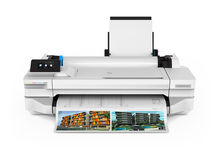 HP Designjet T125 with print