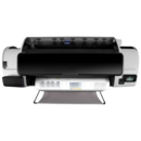 Top View showing roll at rear - HP Designjet T1300PS ePrinter CR652A